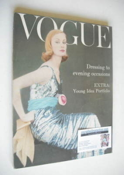 British Vogue magazine - October 1958 (Vintage Issue)