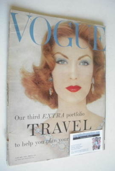 British Vogue magazine - January 1958 (Vintage Issue)