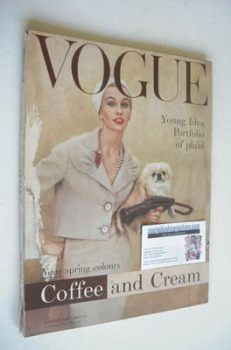 British Vogue magazine - February 1958 (Vintage Issue)