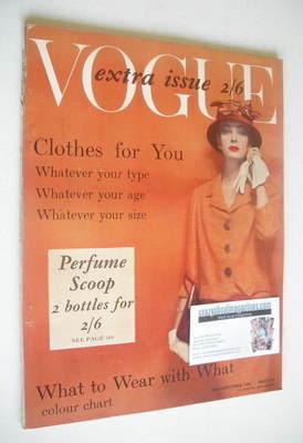 <!--1958-09-->British Vogue magazine - Mid-September 1958 (Vintage Issue)
