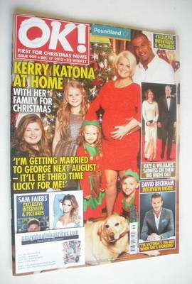 <!--2013-12-17-->OK! magazine - Kerry Katona and family cover (17 December