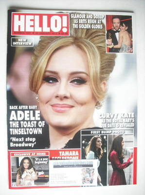 <!--2013-01-28-->Hello! magazine - Adele cover (28 January 2013 - Issue 126
