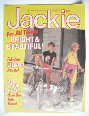<!--1981-08-22-->Jackie magazine - 22 August 1981 (Issue 920)