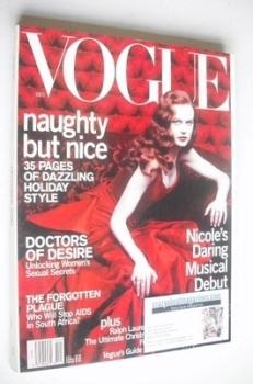 US Vogue magazine - December 2000 - Nicole Kidman cover