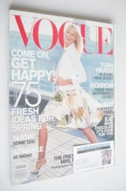 <!--2001-02-->US Vogue magazine - February 2001 - Karolina Kurkova cover