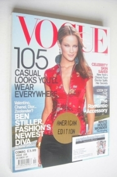 US Vogue magazine - October 2001 - Carolyn Murphy cover