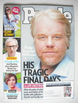 <!--2014-02-17-->People magazine - Philip Seymour Hoffman cover (17 Februar