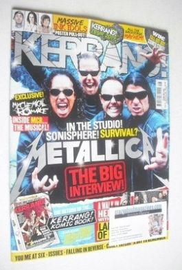 <!--2014-02-22-->Kerrang magazine - Metallica cover (22 February 2014 - Iss