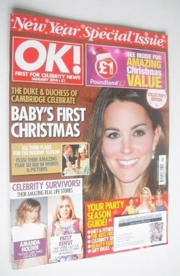 <!--2014-01-01-->OK! magazine - Kate Middleton cover (New Year Special Issu