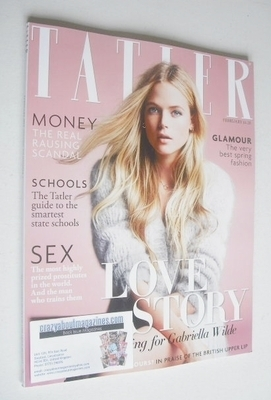 <!--2014-02-->Tatler magazine - February 2014 - Gabriella Wilde cover