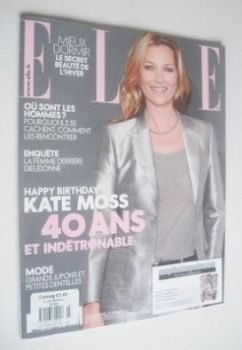 French Elle magazine - 10 January 2014 - Kate Moss cover