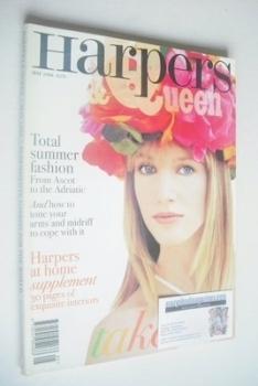 British Harpers & Queen magazine - May 1996 - Cecilia Chancellor cover