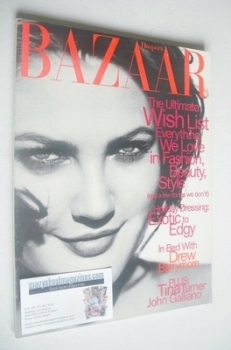 Harper's Bazaar magazine - December 1996 - Drew Barrymore cover