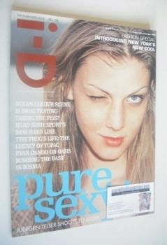 i-D magazine - Angela Lindvall cover (November 1996 - Issue 158)