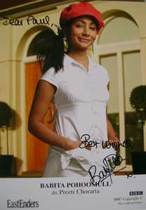 Babita Pohoomull autograph (ex EastEnders actor)