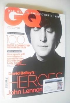 British GQ magazine - March 2014 - John Lennon cover