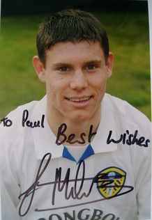 James Milner autograph