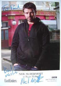 Neil McDermott autograph (ex EastEnders actor)