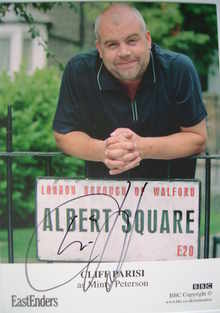 Cliff Parisi autograph (EastEnders actor)