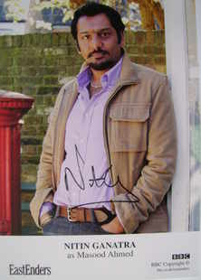 Nitin Ganatra autograph (EastEnders actor)