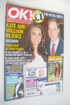 <!--2013-07-23-->OK! magazine - The Duke and Duchess of Cambridge cover (23