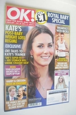 <!--2013-07-30-->OK! magazine - Kate Middleton cover (30 July 2013 - Issue