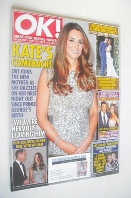<!--2013-09-24-->OK! magazine - Kate Middleton cover (24 September 2013 - I