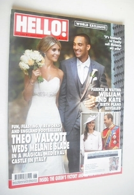 <!--2013-07-01-->Hello! magazine - Theo Walcott and Melanie Slade cover (1