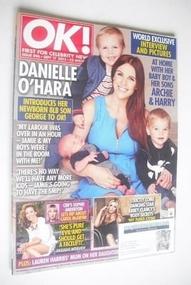 <!--2013-09-17-->OK! magazine - Danielle O'Hara and children cover (17 Sept
