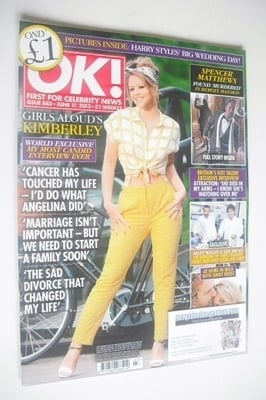 <!--2013-06-11-->OK! magazine - Kimberley Walsh cover (11 June 2013 - Issue