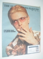 <!--1975-07-20-->The Sunday Times magazine - David Bowie cover (20 July 1975)