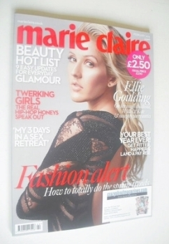 British Marie Claire magazine - February 2014 - Ellie Goulding cover