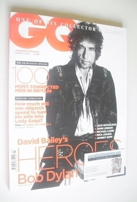 <!--2014-03-->British GQ magazine - March 2014 - Bob Dylan cover
