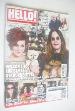 <!--2013-12-30-->Hello! magazine - Sharon Osbourne and Ozzy Osbourne cover