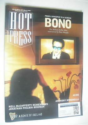 <!--2000-03-29-->Hot Press magazine - Bono cover (29 March 2000)