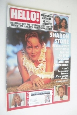 <!--1995-10-21-->Hello! magazine - Sharon Stone cover (21 October 1995 - Is