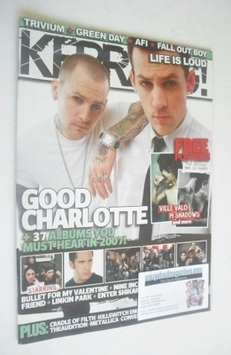 <!--2007-01-06-->Kerrang magazine - Good Charlotte cover (6 January 2007 -