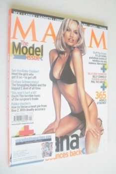 <!--2002-04-->MAXIM magazine - Adriana Karembeu cover (April 2002)