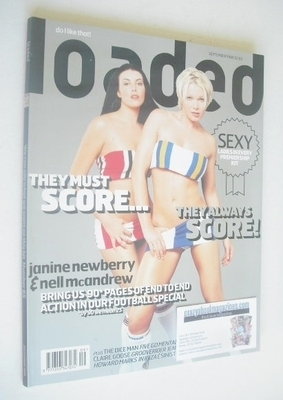 <!--1999-09-->Loaded magazine - Janine Newberry and Nell McAndrew cover (Se