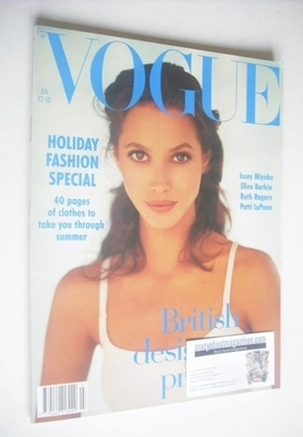 <!--1993-07-->British Vogue magazine - July 1993 - Christy Turlington cover