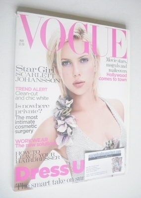 <!--2004-05-->British Vogue magazine - May 2004 - Scarlett Johansson cover