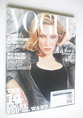 <!--2004-02-->British Vogue magazine - February 2004 - Cate Blanchett cover