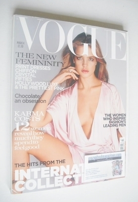 <!--2004-03-->British Vogue magazine - March 2004 - Natalia Vodianova cover