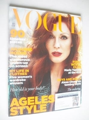<!--2009-07-->British Vogue magazine - July 2009 - Julianne Moore cover
