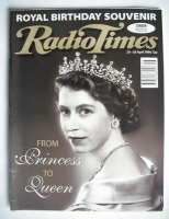 <!--1996-04-20-->Radio Times magazine - The Queen cover (20-26 April 1996)