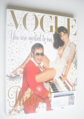 <!--2002-12-->British Vogue magazine - December 2002 - Liz Hurley and Elton