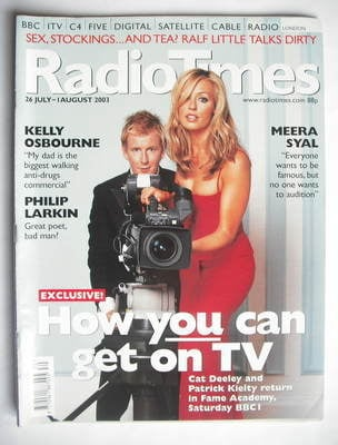 <!--2003-07-26-->Radio Times magazine - Patrick Kielty and Cat Deeley cover