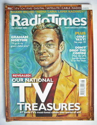 <!--2003-07-12-->Radio Times magazine - Graham Norton cover (12-18 July 200