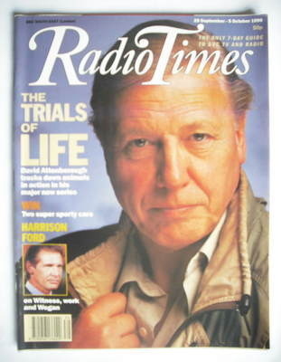 <!--1990-09-29-->Radio Times magazine - David Attenborough cover (29 Septem