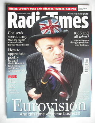 <!--2009-05-16-->Radio Times magazine - Graham Norton cover (16-22 May 2009